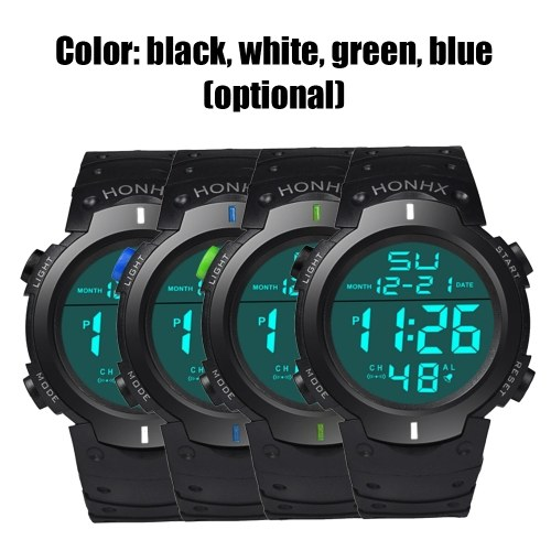 Men LED Light Digital Sport Watch