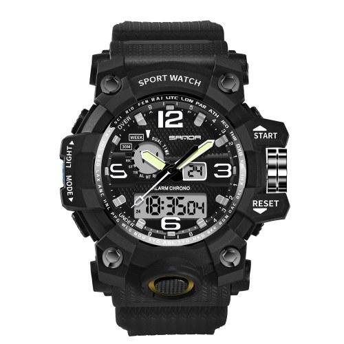 SANDA 742 Männer Analog Digital Countdown Uhr Mode Lässig Sport Armbanduhr