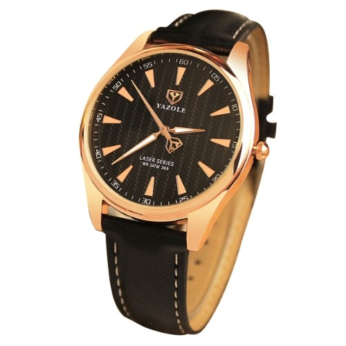 YAZOLE 369 Leder Uhr Mode Top-Marke