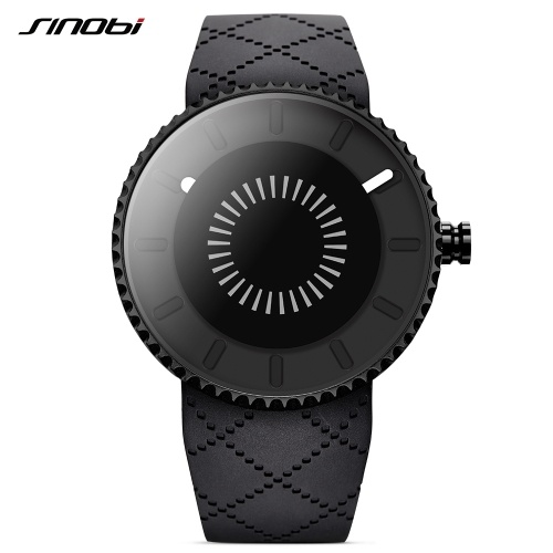 SINOBI 9742 Simple Men Watch Silicone Strap Quartz Movement Watch