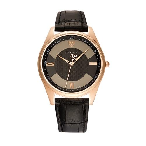 YAZOLE 416 Leather Watch Quartz Watch