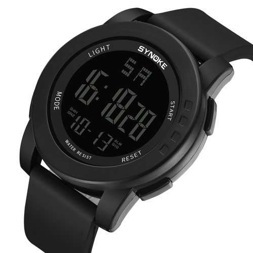 Immagine di SYNOKE 9003 Sport Watch LED Digital Watch Alarm Luminoso Second Timing Daily Sport Band impermeabile