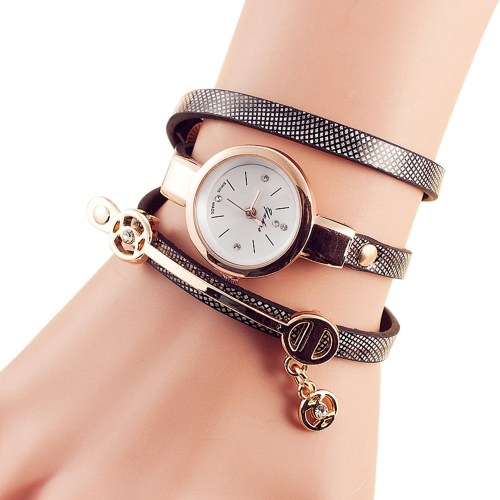 Fashion Lady Casual Alloy Bracelet Quartz Watch