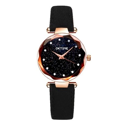 Luxo requintado moda estrela relógio de quartzo mulheres casual brilhante céu estrelado relógios de pulso