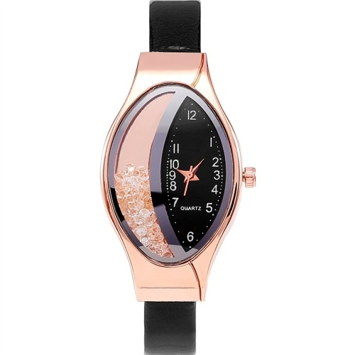 ダイヤモンドのスタイリッシュなレディースウォッチ蛇行ベルトが女性のための流れるダイヤモンドの腕時計