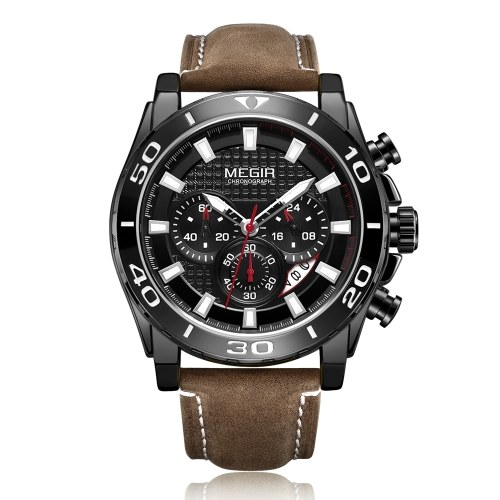 MEGIR 2094 Men Watch / Quartz Sport Simple Wristwatch