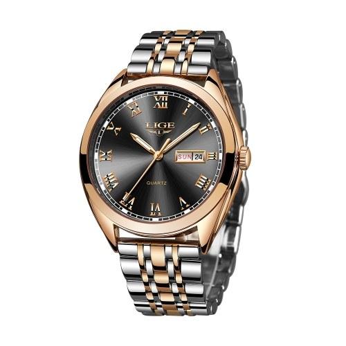LIGE 9904 uomini orologio al quarzo top fashion brand cronografo uomo in acciaio inox impermeabile uomini d'affari orologio da polso relogio masculino