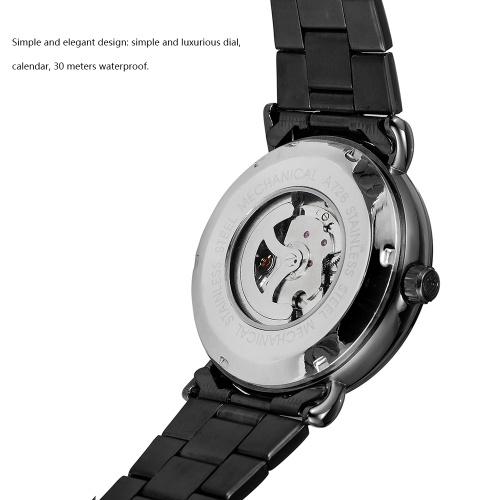 Forsining 726 Лучший Бренд Автоматические Механические Деловые Мужские Часы Скелет Мужские Часы Роскошные Моды Военные Часы Из Нержавеющей Стали с Подарочной Коробке фото
