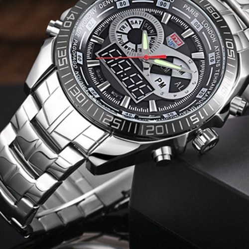 Men Watch LED Pointer Waterproof Montre Sports Watches for Men Black фото