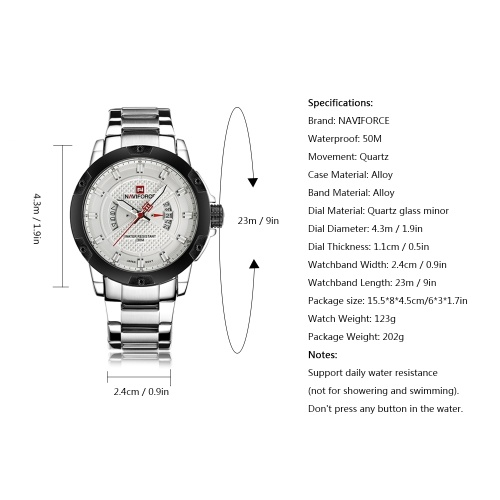NAVIFORCE 9085 Quartz Man Watch Unique Fashion Sport Casual Brand Clock Army Military Business Original Movement Stainless Steel 50M Waterproof Wrist Watch Relogio Masculino with Gift Box фото