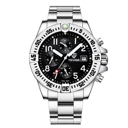 TEVISE Men Automatic Mechanical Calendar Watch