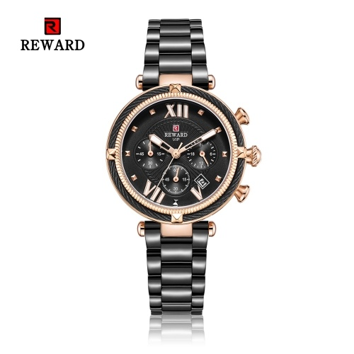 REWARD mulheres relógios femininos impermeável esporte relógio de quartzo