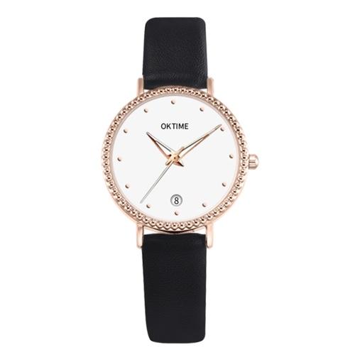 Moda simples mulheres relógio de quartzo