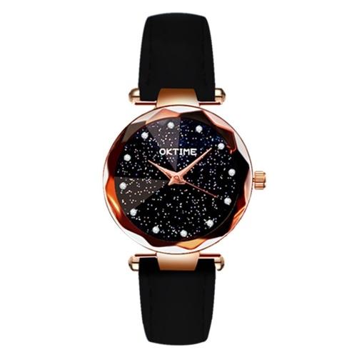 Brilliant montre à cadran de nuit étoilée pour femme