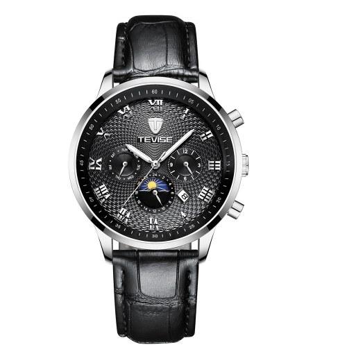 TEVISE T846B Reloj para hombre Big Dial Reloj mecánico