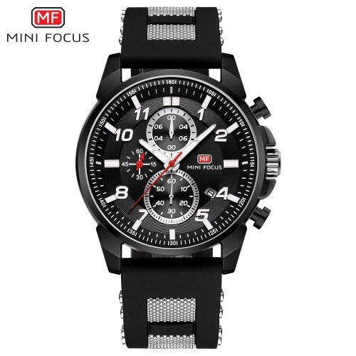 MINI FOCUS MF0268G Man Quartz Watch Calendar Display
