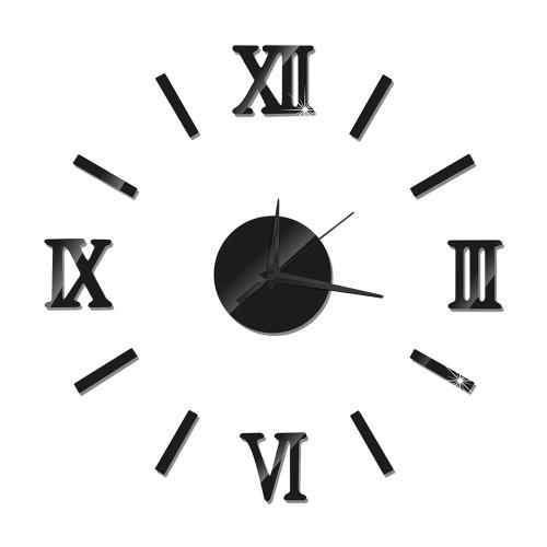 DIYの柱時計フレームレス3Dミラーの柱時計