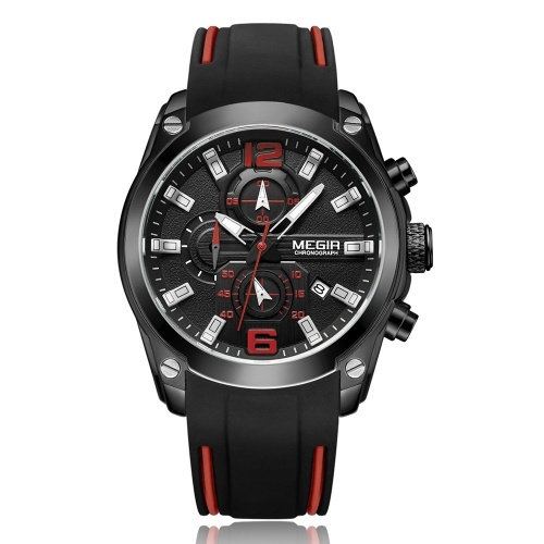 MEGIR 2063 Multifunctional Luminous Chronograph 3ATM Waterproof Men's Sports Watch