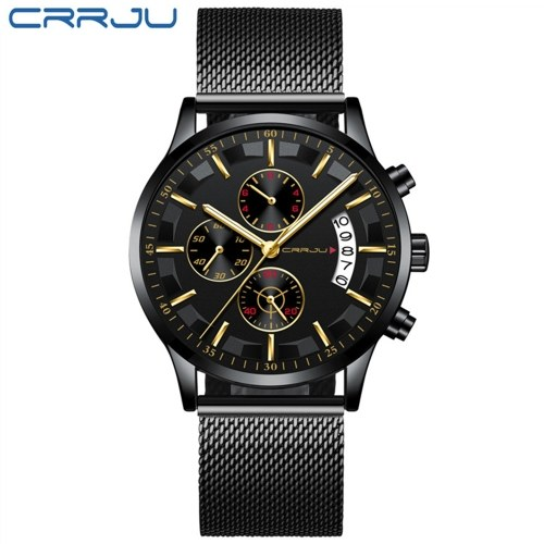 CRRJU 2261 montre-bracelet à quartz pour homme