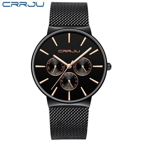 CRRJU 2155 montre-bracelet à quartz pour homme