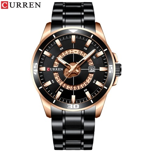 Curren Men Watches Orologio al quarzo analogico impermeabile
