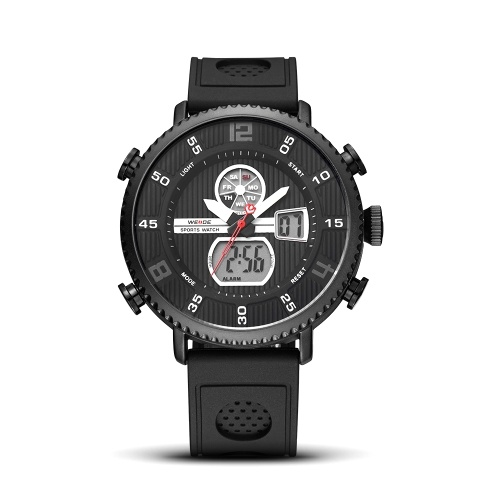WEIDE WH6106 Dual Display Quartz Digital Men Watch