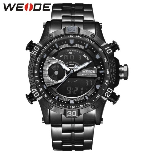 WEIDE WH6902 Orologio da uomo digitale al quarzo a due movimenti con doppio display