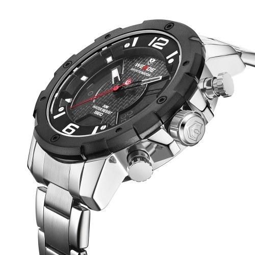 WEIDE WH8504 Dual Display Two Movement Digital Quartz Men Watch
