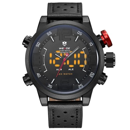 WEIDE WH5210 Dual Display Two Movement Quartz Digtal Men Watch фото