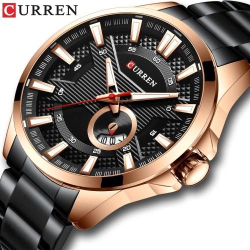 Curren Watch Модный мужской деловой календарь Luminous Hands Кварцевые часы