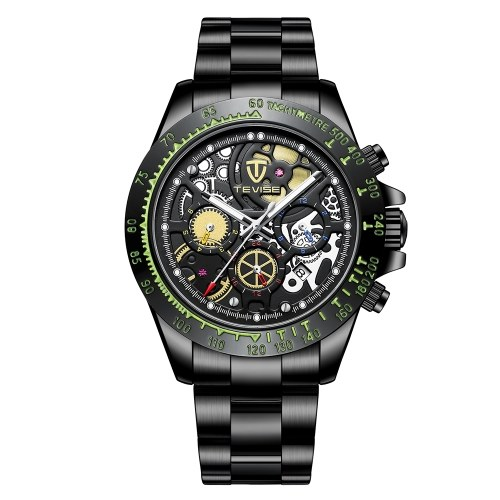 TEVISE Mens Watch Luxury Automatic Mechanical Watch