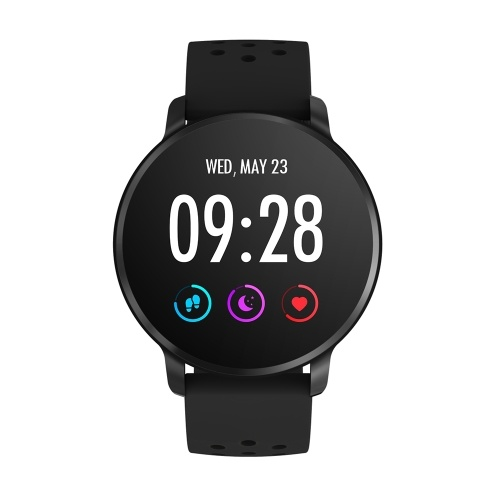SN11 Smart Watch 1.3-inch IPS-LCD Touchscreen IP67 Waterproof Heart Rate Sleep Blood Pressure/Oxygen Monitor Activity Fitness Tracker Pedometer Sedentary Reminder Remote Camera Music Control Sports Smartwatch with Silicone Strap Band Compatible with Andro