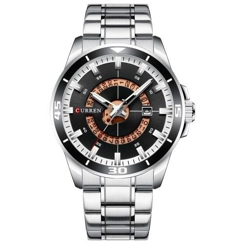 Наручные часы CURREN 8359 для мужчин Мужские кварцевые часы с индикатором календаря Дата Водонепроницаемые светящиеся стрелки Носимые аксессуары с ремешком из нержавеющей стали