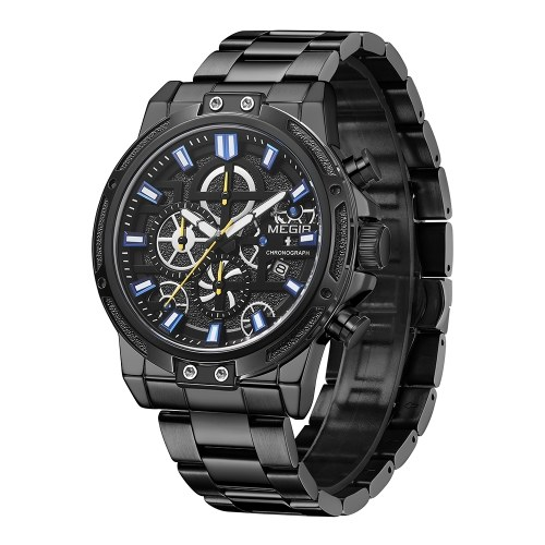 MEGIR Mens Watch Quartz Chronograph Watch