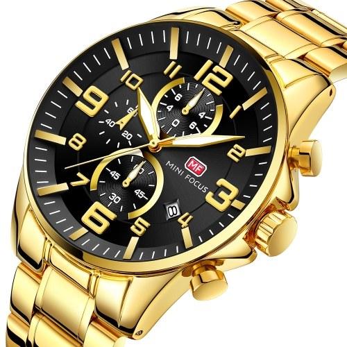 MINI FOCUS MF0278G Quartz Man Wristwatch