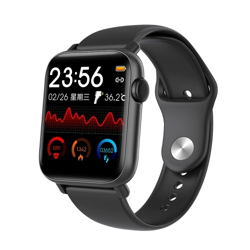 1.54'' Smart Watch with Thermometer Heart Rate Blood Pressure Blood Oxygen Monitoring Secientific Sleep Multi-Sport Mode IP67 Waterproof Fitness Smartwatches