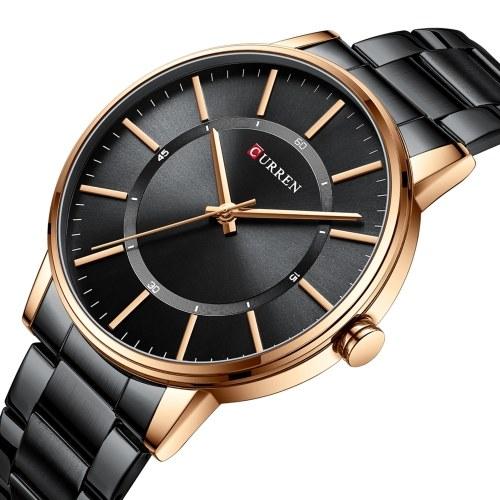 Montre à Quartz pour homme CURREN avec bracelet en acier inoxydable montre-bracelet multifonction de mode 3ATM montres