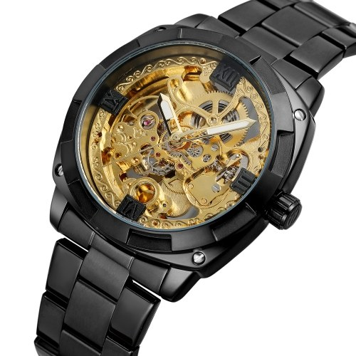 FORSINING Men's Automatic Mechanical Watch with Stainless Steel Strap Fashion Wristwatch