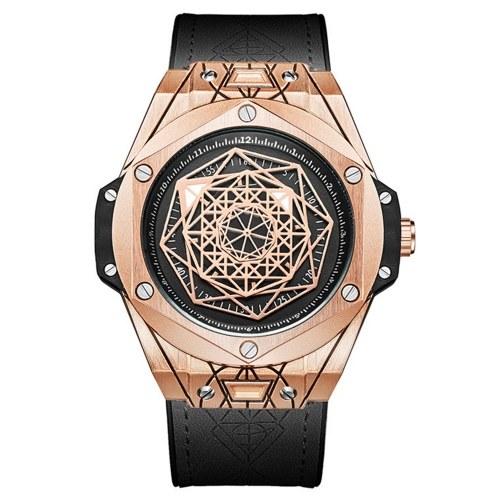 ONOLA Herren Quarzuhr mit Lederarmband Mode Multifunktionsarmbanduhr 3ATM Uhren