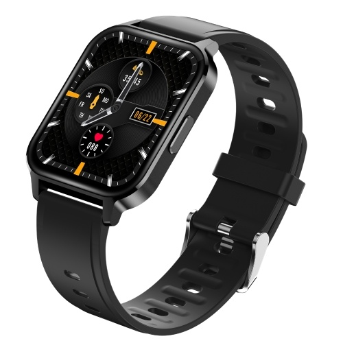Q18 S-mart Intelligent Band 1.75 Inch Sensitive Touching Screen Sport Watch Heart Rate/Spo2/ Oxygen Monitor 24 Sport Modes Music Control BT5.0 Connected Connection Camera IP68 Waterproof Wristband Replacement for Android 4.4 Above/ IOS 8.0 Above Phone System for Present Gift Indoor Outdoor Activities