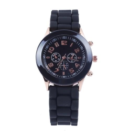 Klassische Quarzuhr Unisex Armbanduhr mit Silikonarmband Leichte Freizeituhren Tägliche wasserdichte Analoguhr