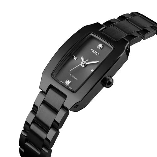 SKMEI femmes montre à Quartz bracelet en acier inoxydable diamant cadran femme bracelet élégant dames montres Bracelet temps précis 3ATM étanche
