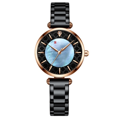 CURREN Women Quartz Watch Classic Female Fashion Wrist Watch 3ATM Waterproof with Stainless Steel Band for Daily & Business