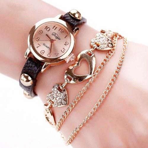 Ladies Bracelace Watch Bangle Watch Woven Watch Stylish Winding Women Wrist Watch