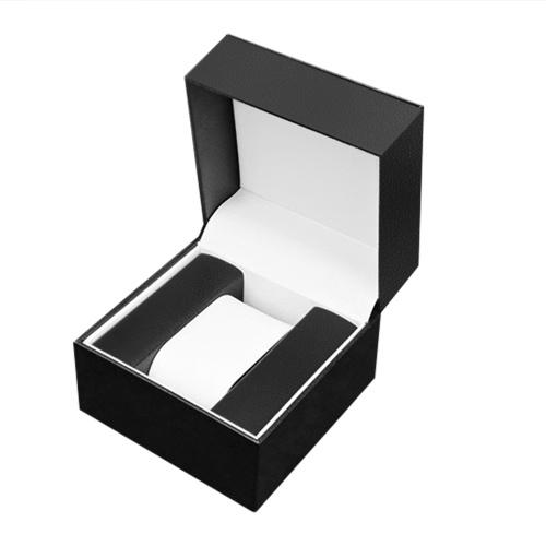 Scatola per orologio singolo con cuscino Scatola regalo per orologio di lusso in pelle PU Scatola da esposizione per orologio da polso Orologi Scatole per imballaggio quadrate per uomo Donna Anniversario di compleanno di Natale