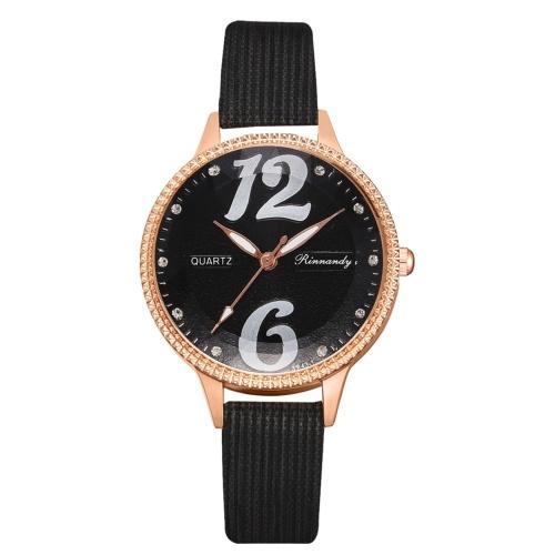 XR4600 Stylish Elegant Women Dress Watch Minimalist Analog Quartz Wristwatch Simple Casual Watch for Outdoor Travel Party Dating Business