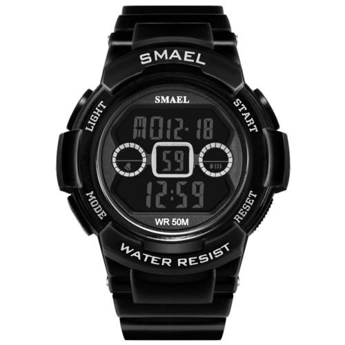 SMAEL 1632B Multifunctional Outdoor Sport Watch for Men Women Fashionable Couple Wrist Watch Unisex Watch with 50M Waterproof/Luminous/Alarm/Stopwatch/Hourly Chime/Week/Date