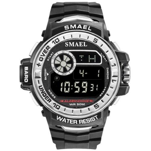 SMAEL 1626 Multifunctional Sport Watch for Men Women Fashionable Unisex Wrist Watch with 50M Waterproof/Luminous/Alarm/Timing/Week/Date Display