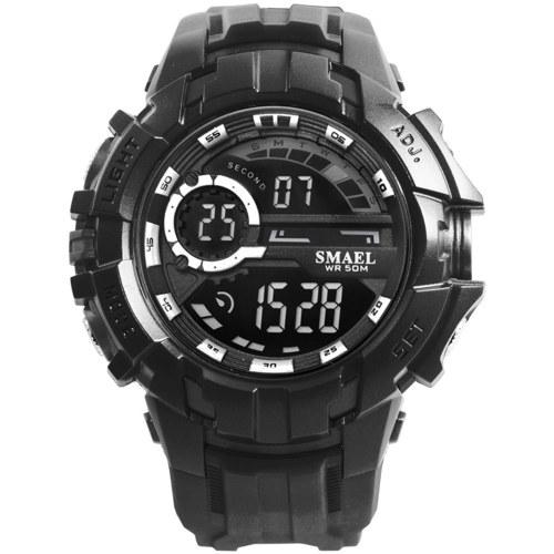SMAEL 1610 Multifunctional Shock Resistant Sport Watch for Men Women Fashionable Unisex Wrist Watch with 50M Waterproof/Luminous/Alarm/Stopwatch/Week/Date Display