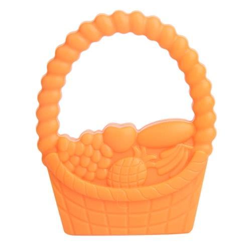 100% Food Grade Silicone Hand Held żucia Basket Gryzak Ząbkowanie Wisiorek Naszyjnik Chew dla niemowląt Maluch Kojące Pielęgniarstwo Biżuteria Zabawka zawiera Bisfenolu DIY